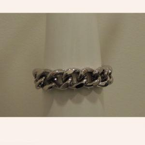 Bracciale catena color acciaio